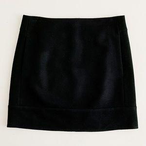 J. Crew Black deleted wool miniskirt